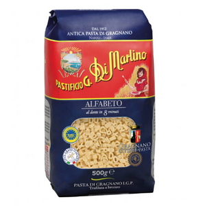 南意大利 108年 老字號  Di Martino 字母粉 Alfabeto (低溫慢速烘乾、銅模製作,食家、名廚大讚的意大利麵) (500g)