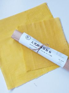 All Natural Beeswax Wrap - Tumeric Dye