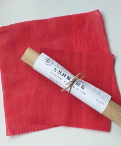 All Natural Beeswax Wrap - Sappanwood Dye