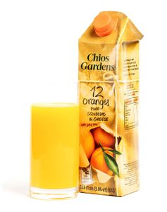 Chios Gardens Greek Orange Juice with Bits(Made with 12 oranges!)