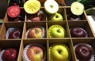 無果蠟 無防腐劑 有機高原泥土種植 四色極罕有機蘋果盒