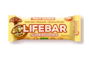 有機 瑪卡+猴麵包樹+椰棗 真真正正超級能量棒 (即時補充能量!男女也可享用)(Superfruits: Maca + Baobab + Dates)(47g 大包裝)