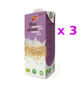 Organic Whole Rice Drink  (100% Vegan)( Gluten Free )(1L) x 3