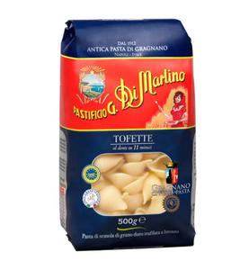 南意大利 108年 老字號  Di Martino  橫紋貝殼麵 Tofette (低溫慢速烘乾、銅模製作,食家、名廚大讚的意大利麵) (500g)