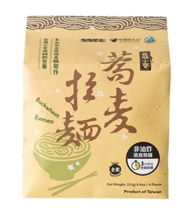台灣無添加即食蕎麥麵(一包4個麵餅)