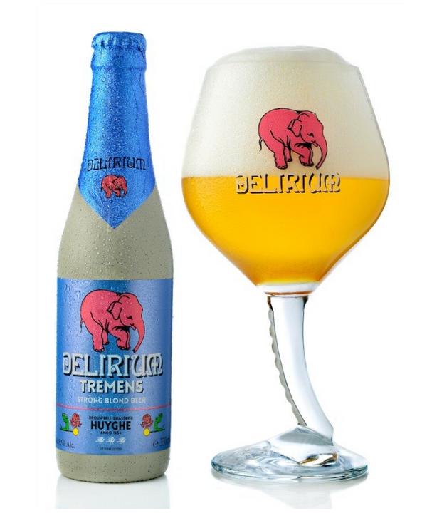 Delirium Tremens beer (Ratebeer: 95 pts)