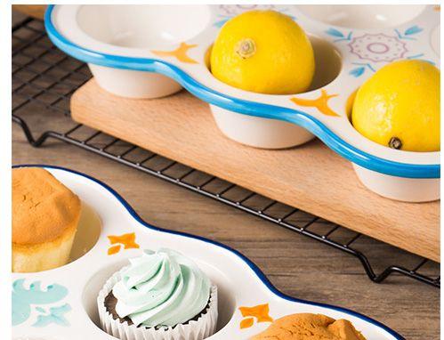 Porcelain Muffin Baking Tin
