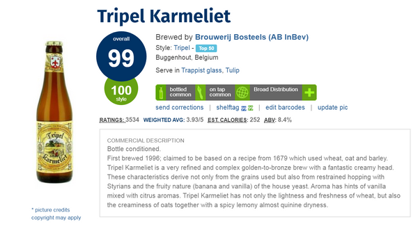 Tripel Karmeliet (Ratebeer: 99pts) 330ml x 2